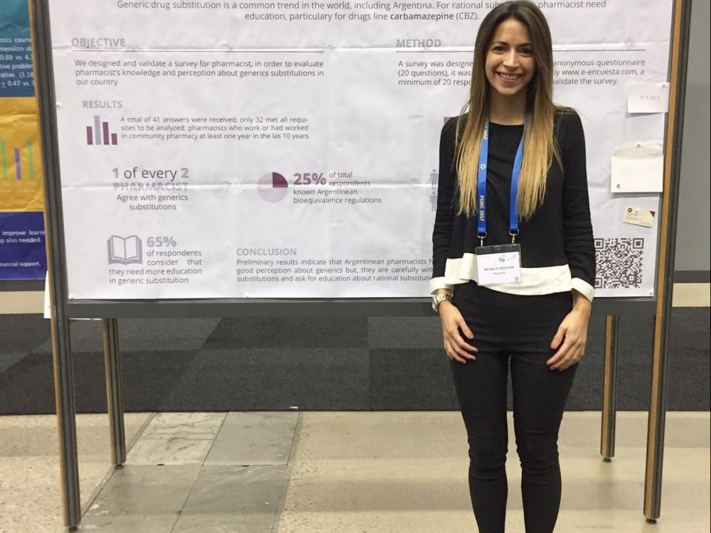 Egresada UB asistió al 6th FIP Pharmaceutical Sciences World Congress 2017 en Estocolmo