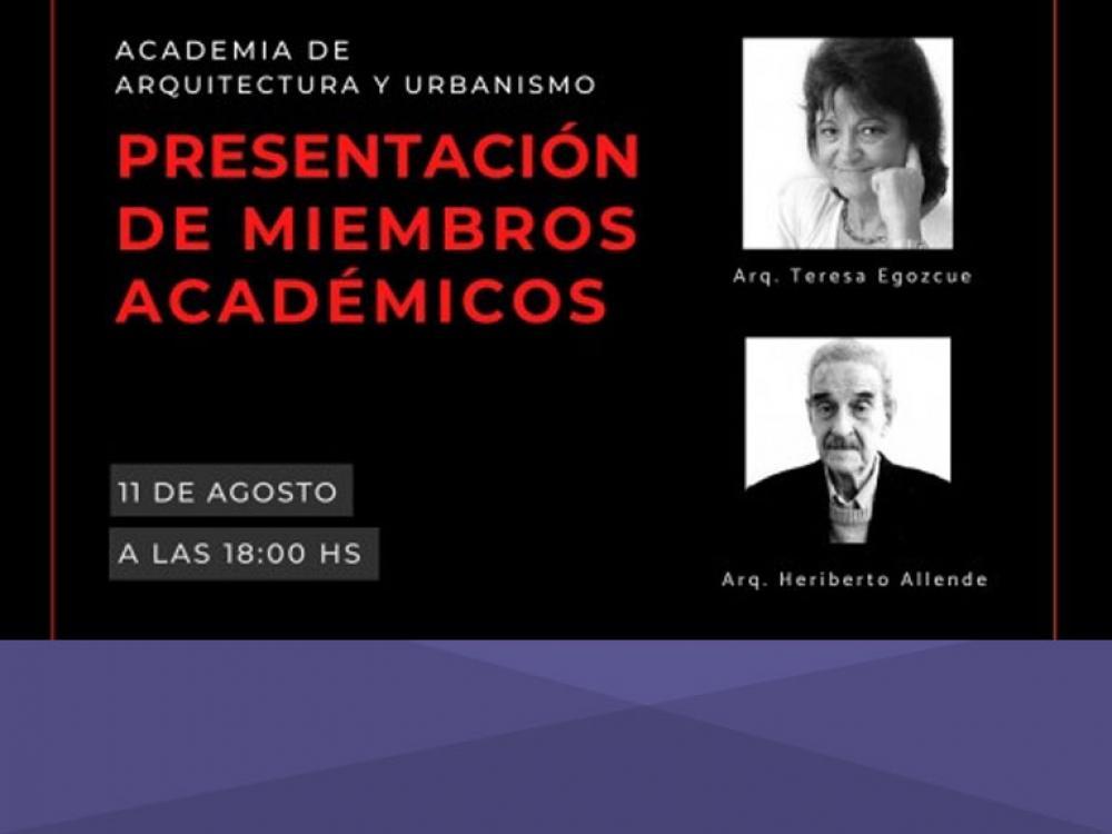 Presentación de miembros académicos