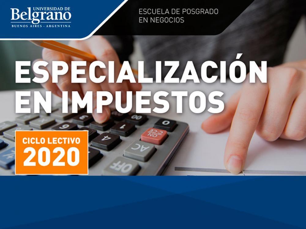 Especialización en Impuestos